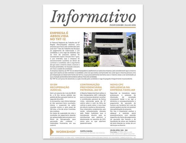 PHMP - Informativo - Julho