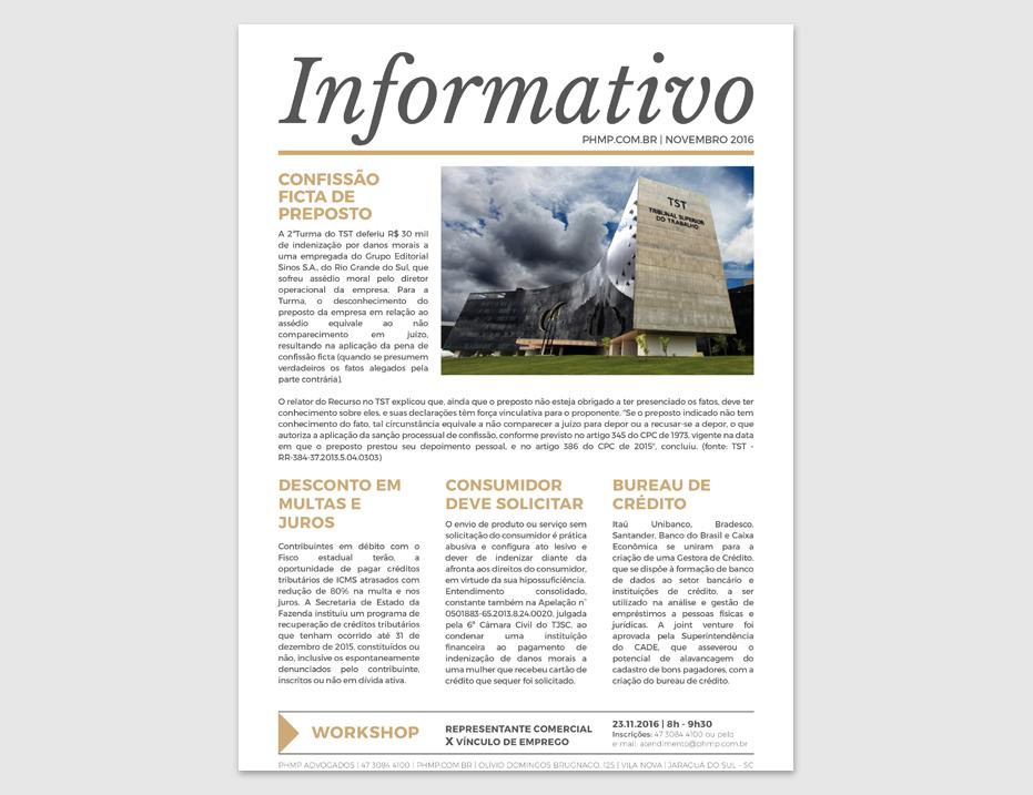 PHMP - Informativo - Novembro - 2016