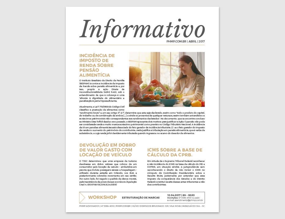 PHMP - Informativo - Abril - 2017