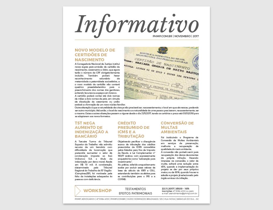 PHMP - Informativo - Novembro - 2017