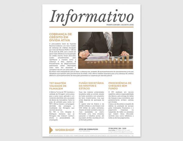 PHMP - Informativo - Agosto - 2016