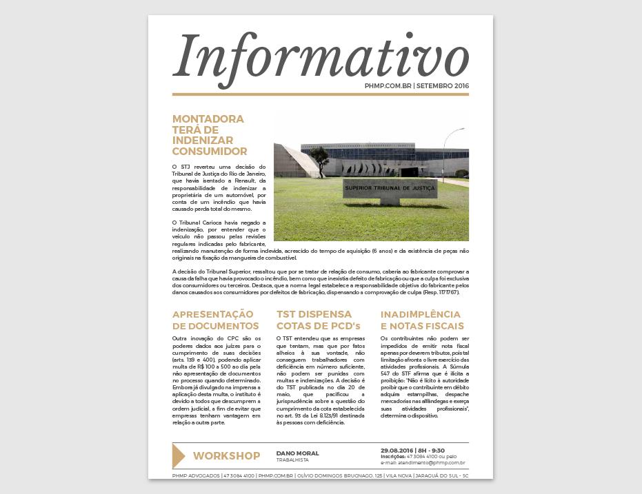 PHMP - Informativo - Setembro - 2016