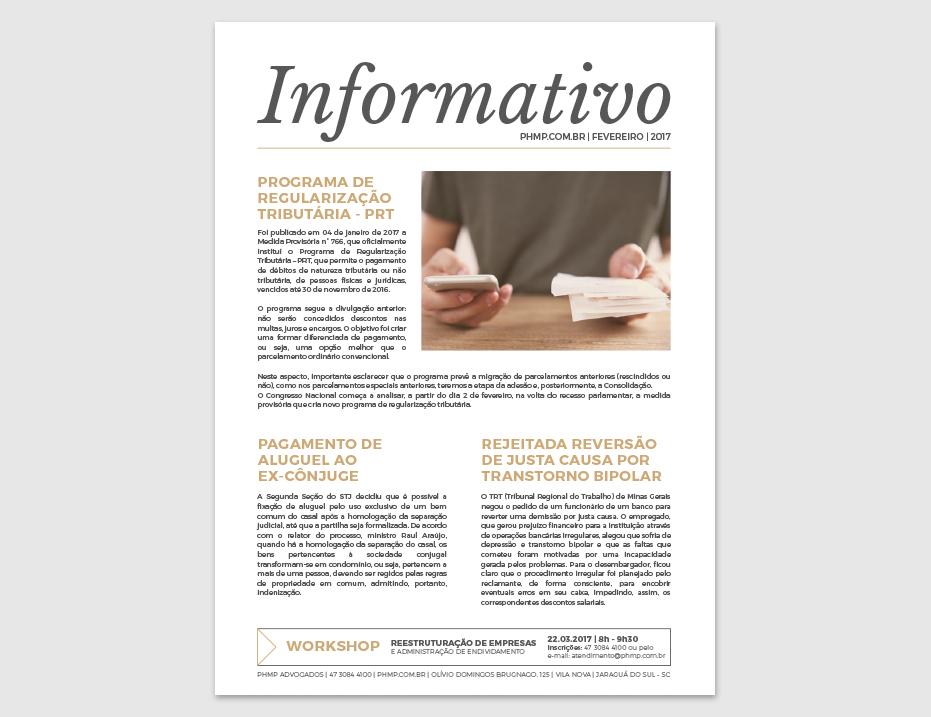 PHMP - Informativo - Fevereiro - 2017