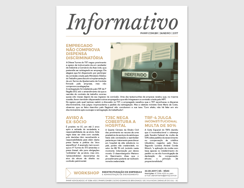PHMP - Informativo - Janeiro - 2017