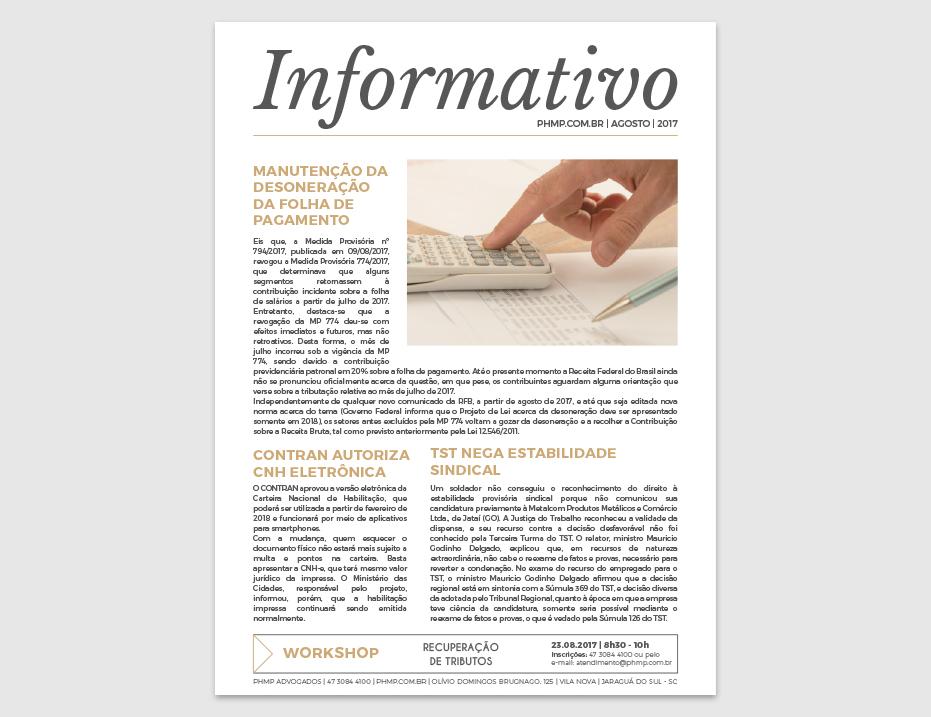 PHMP - Informativo - Agosto - 2017