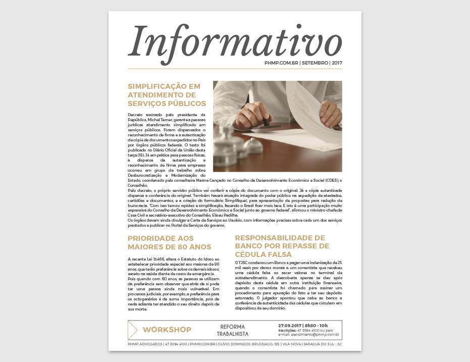 PHMP - Informativo - Setembro - 2017