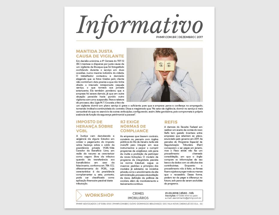 PHMP - Informativo - Dezembro - 2017