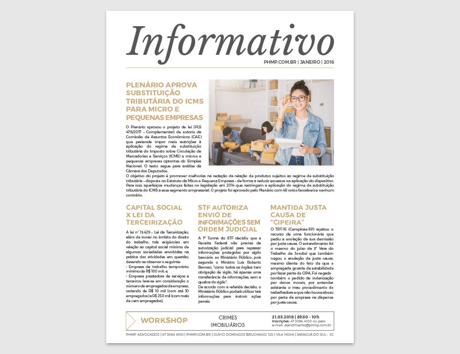 PHMP - Informativo - Janeiro - 2018
