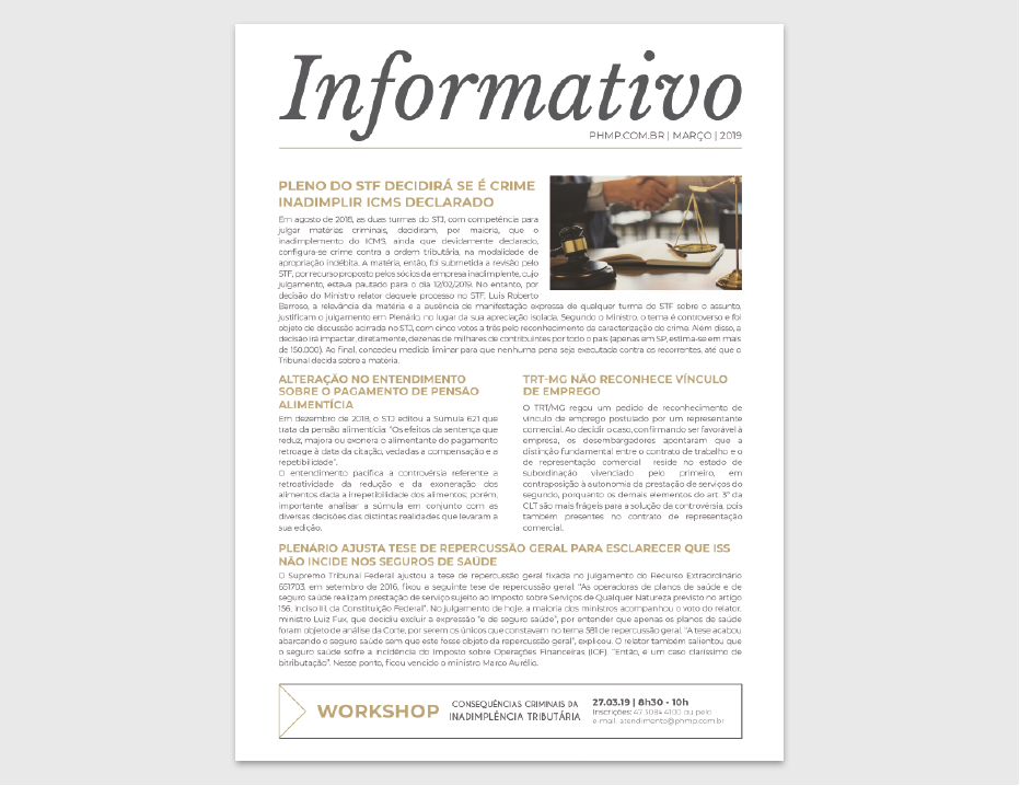 PHMP - Informativo - Fevereiro - 2018